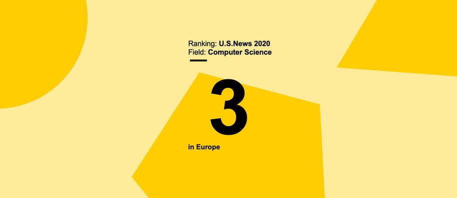 Computer Science field in Aalto University ranked third in Europe by U.S.News 2020 Best Global Universities Ranking