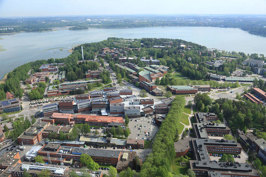 Aerial picture of Otaniemi during the summer