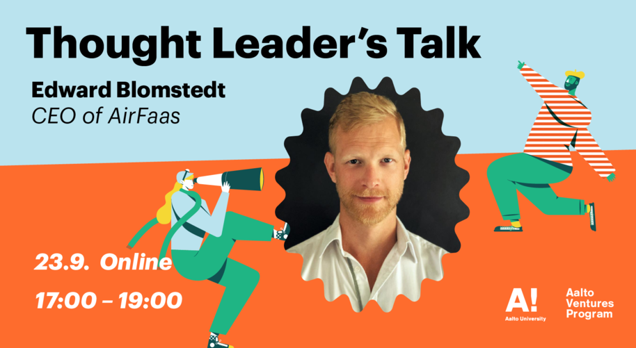 Thought Leader's Talk by Edward Blomstedt banner with a colorful background and a picture of Edward