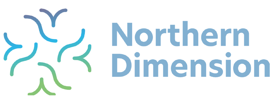 Northern Dimension logo in blue and green