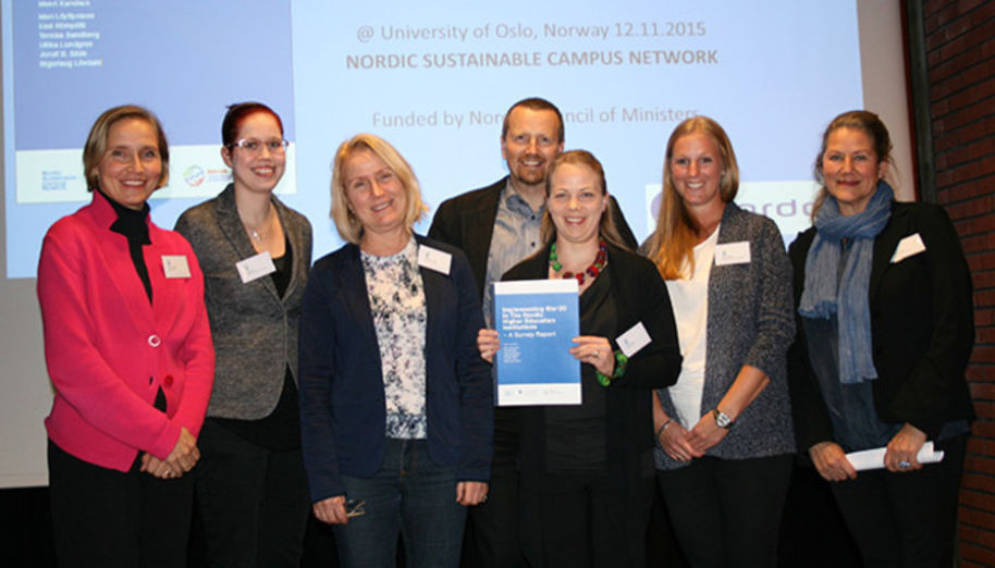 The results of the sustainable development survey of the Nordic Rio+20 project were released in Oslo on 12 November 2015. Photo: Lisbet Michaelsen, DTU.