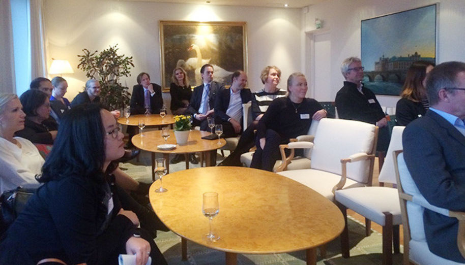 Alumni at the meet-and-greet in Stockholm.