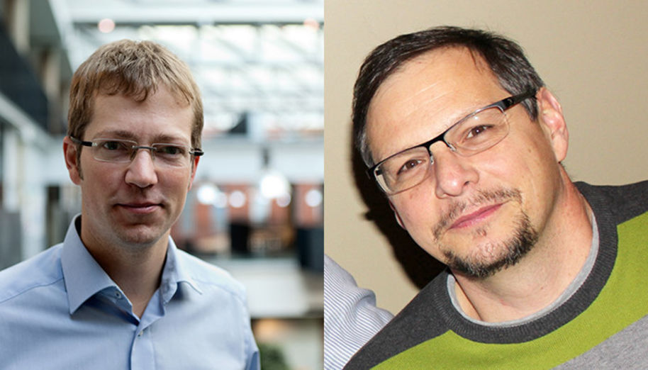 Peter Liljeroth (l.) and Orlando Rojas (r.) will explore and fabricate completely new materials with their ERC Advanced Grants.