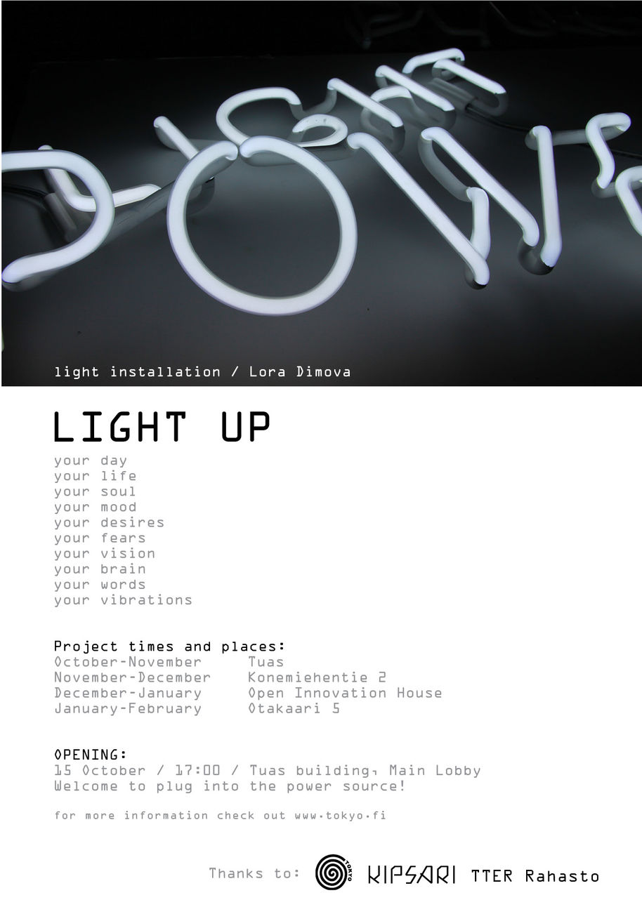 Aalto University / Light Up poster