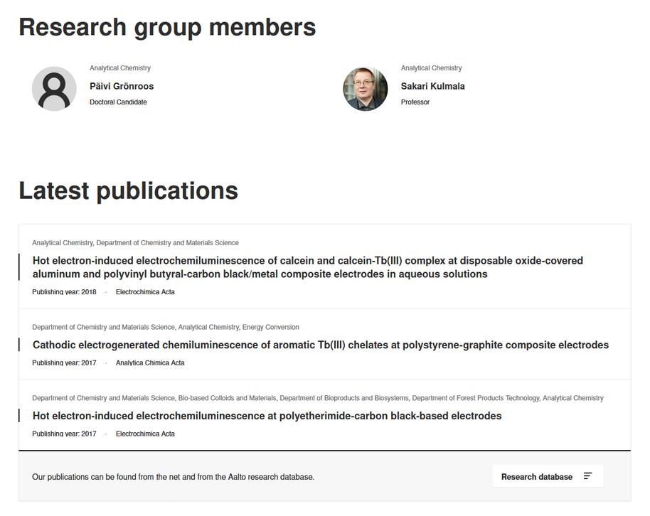 Research group publication example