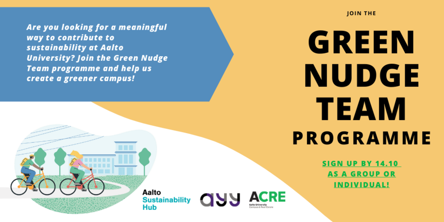 Green nudge team programme banner