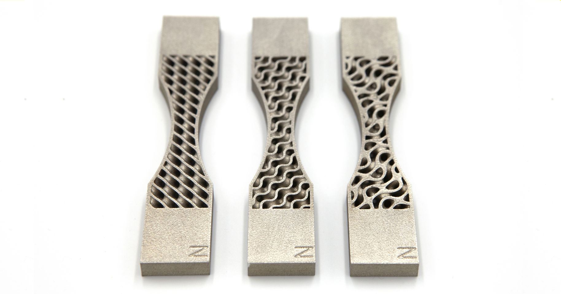 3D printed stainless steel tensile bars with embedded TPMS structures | Niclas Strömberg