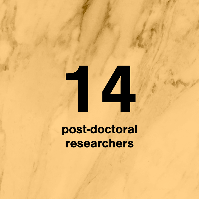 number of post-doctoral students in design
